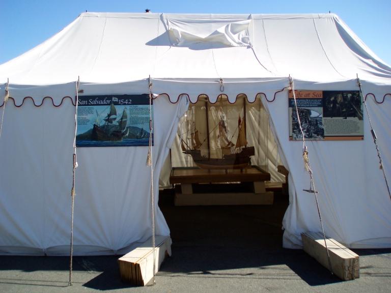 San Salvador Site Tents