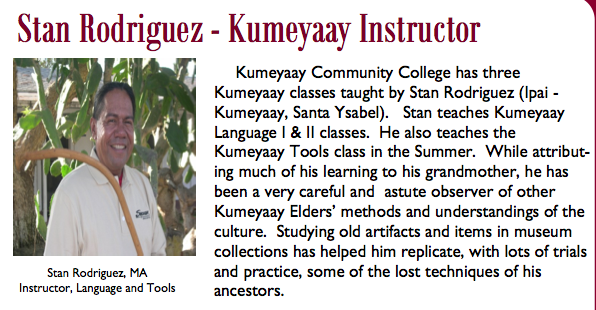 Kumeyaay Instructor