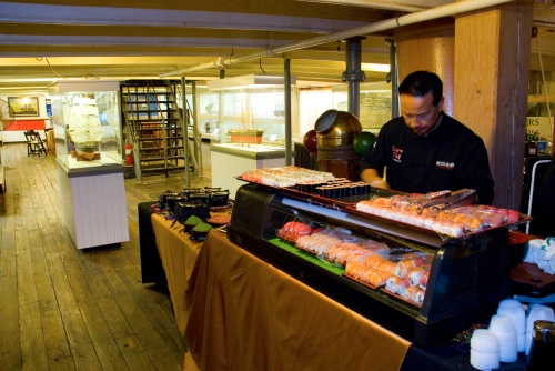 Catering stations on the Star of India